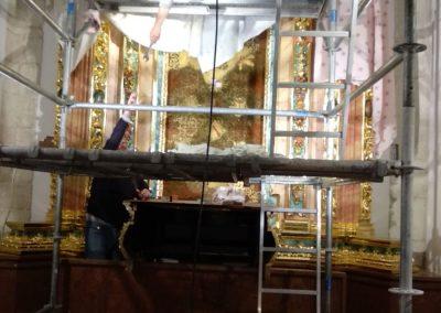 montando retablo